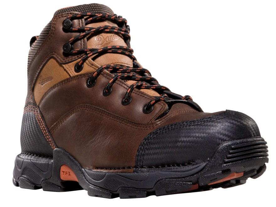 """Danner Corvallis 5"""" Waterproof GORE-TEX Non-Metallic Toe Work Boots Leather Brown Men's"""