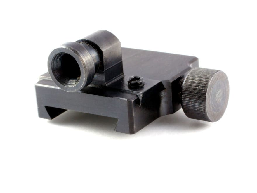Talley Rear Peep Sight Slide On Mount Steel Satin