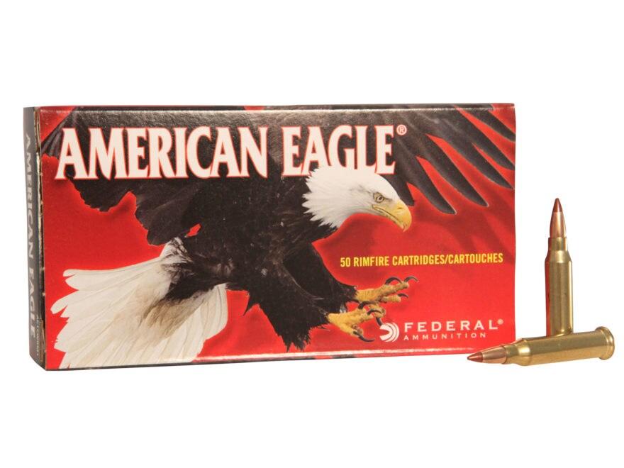 Federal American Eagle Ammunition 17 Winchester Super Magnum 20 Grain Tipped Varmint Bo...