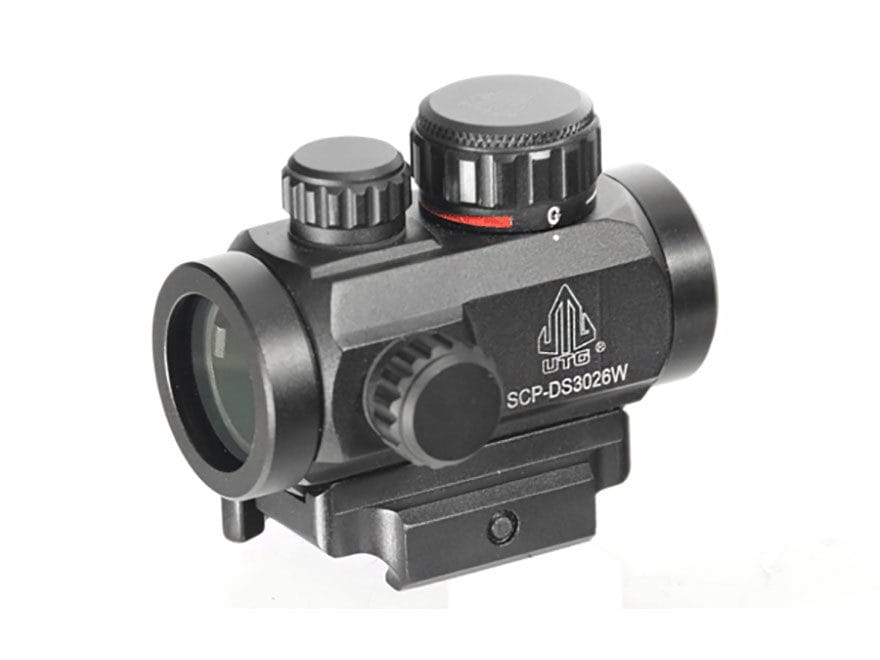 Leapers UTG Micro Red Dot Sight 30mm 1x Red and Green Dot with Quick-Detach Weaver/Pica...