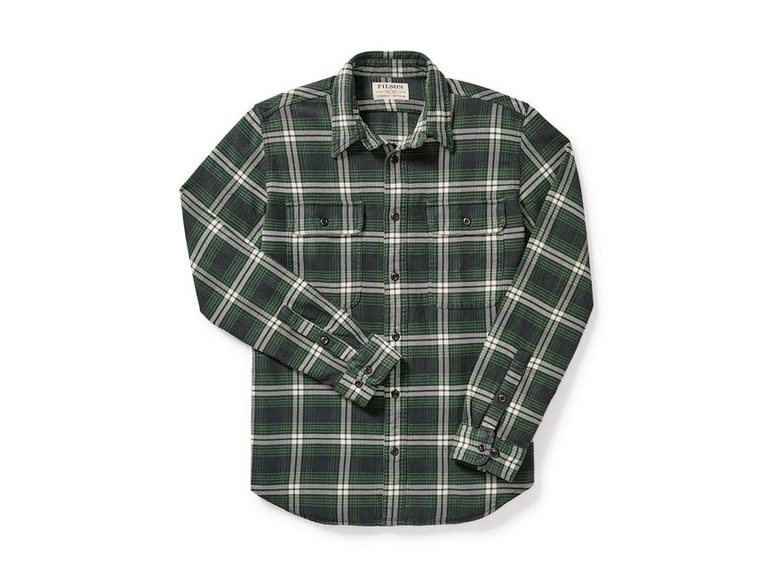 Filson Men's Vintage Flannel Work Shirt Long Sleeve Cotton
