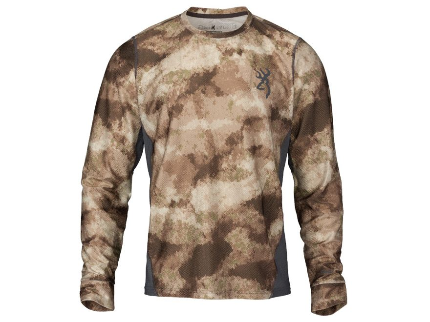 Browning Men's Hell's Canyon Speed Plexus-FM Base Layer Shirt Long Sleeve Polyester/Nylon