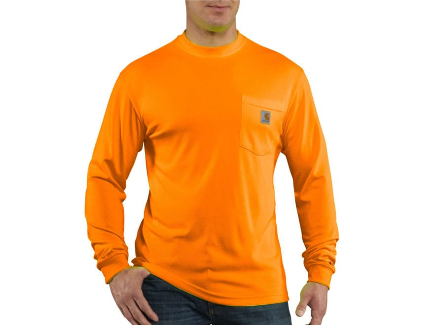 Carhartt Men's HV Force Color Enhanced T-Shirt Long Sleeve Polyester
