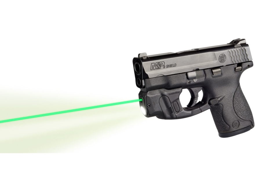 LaserMax CenterFire Weapon Light Mint Green LED with Laser Sight and GripSense Black