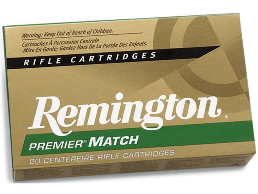 Remington Premier Match Ammunition 223 Remington 62 Grain Hollow Point Boat Tail Box of 20