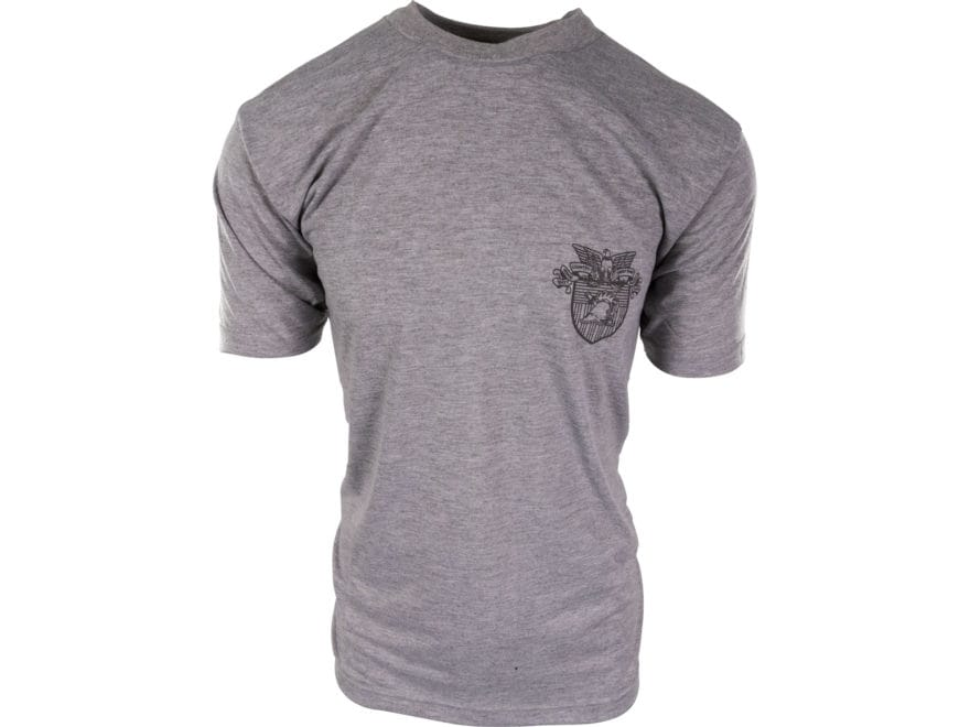 Military Surplus Army Physical Training T-Shirt Short Sleeve West Point Emblem Gray