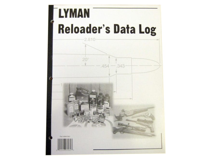 Lyman Reloading Data Log Reloading Manual