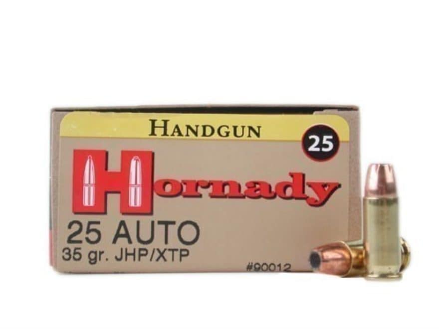 Hornady custom ammo 25 acp 35 grain xtp jacketed hollow mpn 90012 hornady custom ammunition 25 acp 35 grain xtp jacketed hollow point box of 25 publicscrutiny Image collections