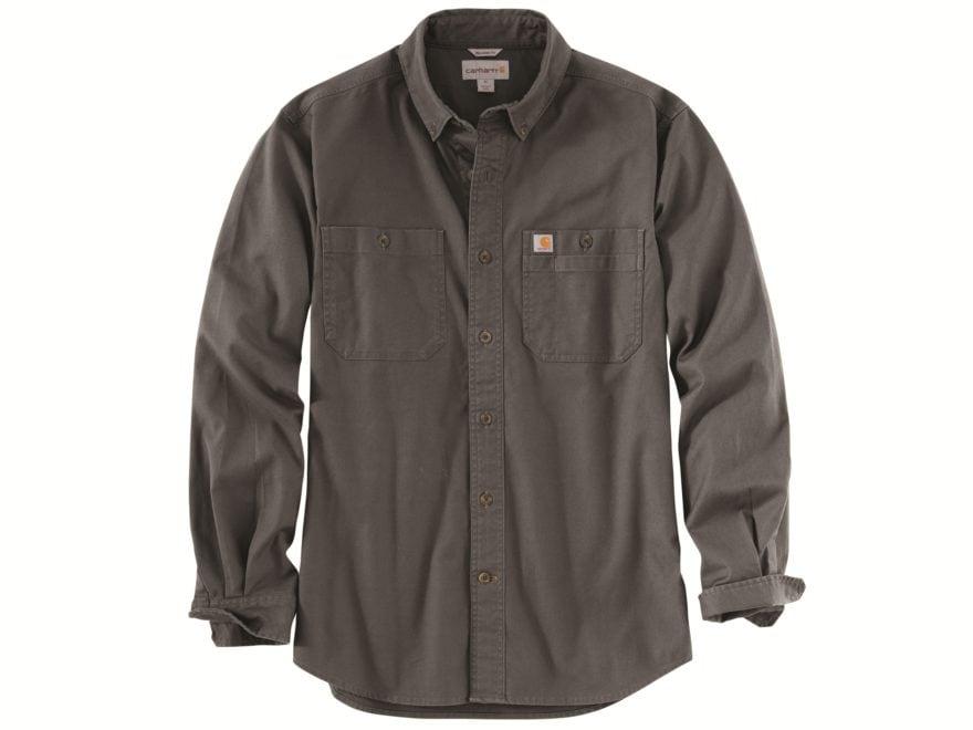 e91c46e4 Carhartt Men's Rugged Flex Rigby Button-Up Work Shirt Long Sleeve  Cotton/Spandex