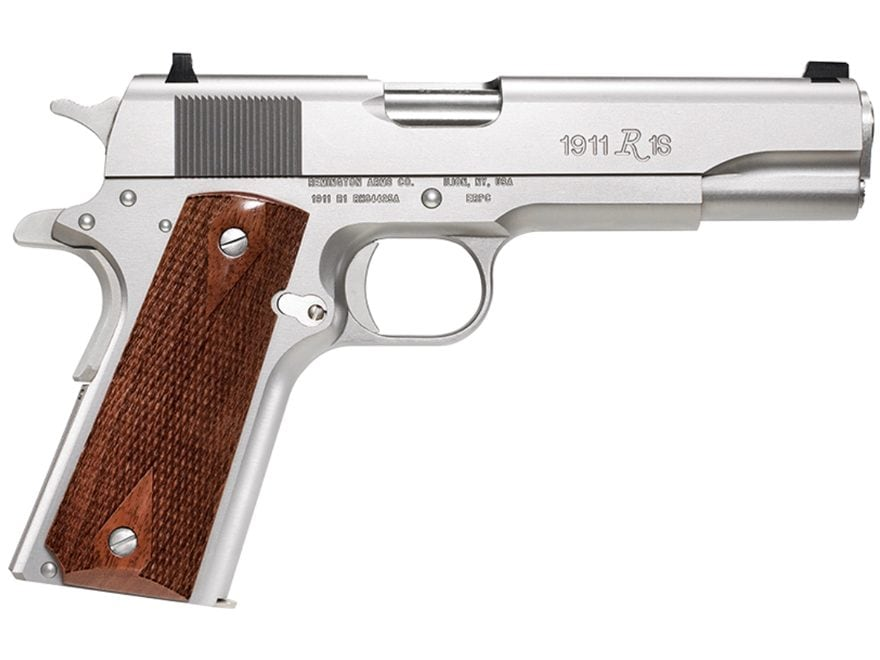"Remington 1911 R1 Government Pistol 45 ACP 5"" Barrel Fixed Sights 7-Round Walnut"
