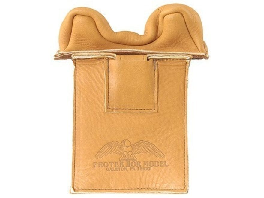 Protektor Owl Ear Front Blind and Window Shooting Rest Bag Leather Tan Unfilled