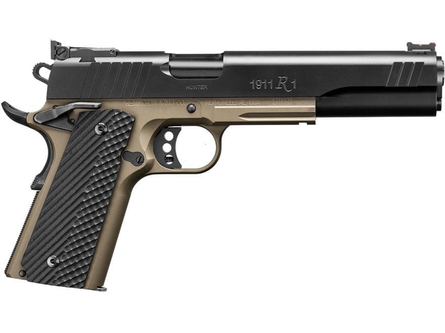 """Remington 1911 R1 Hunter Pistol 10mm 6"""" Barrel Adjustable Sights 8-Round Black Slide"""