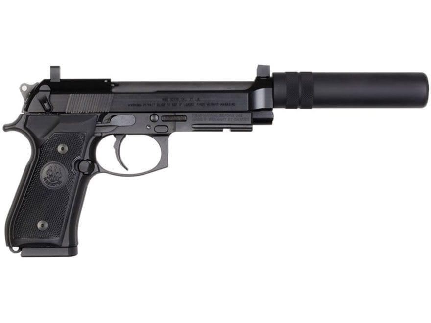 "Beretta 92FSR Pistol 22 Long Rifle 5.3"" Barrel 15-Round Black with Suppressor Ready Kit"