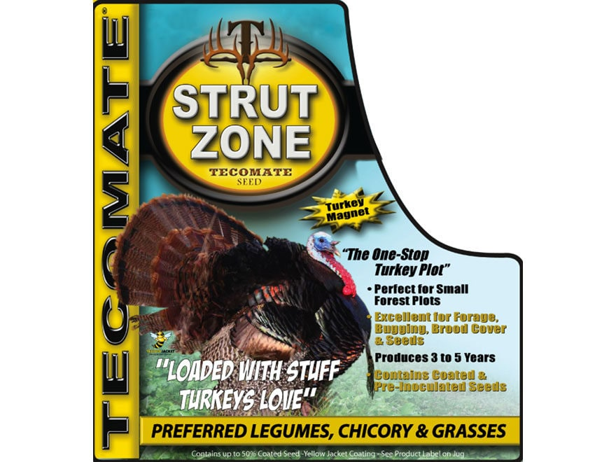 Tecomate Strut Zone Turkey Mix Perennial Food Plot Seed 2.5 lb