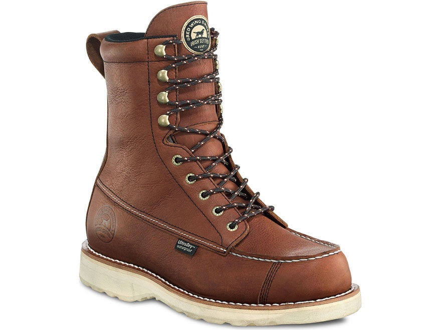 """Irish Setter 894 Wingshooter 9"""" Hunting Boots Leather Brown Men's"""