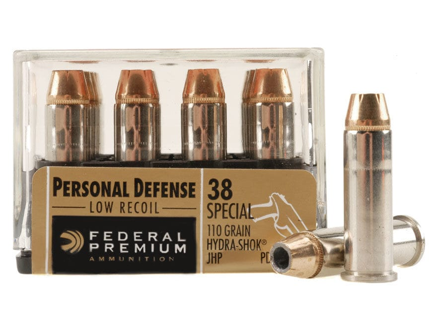 Federal Premium Personal Defense Reduced Recoil Ammunition 38 Special 110 Grain Hydra-S...