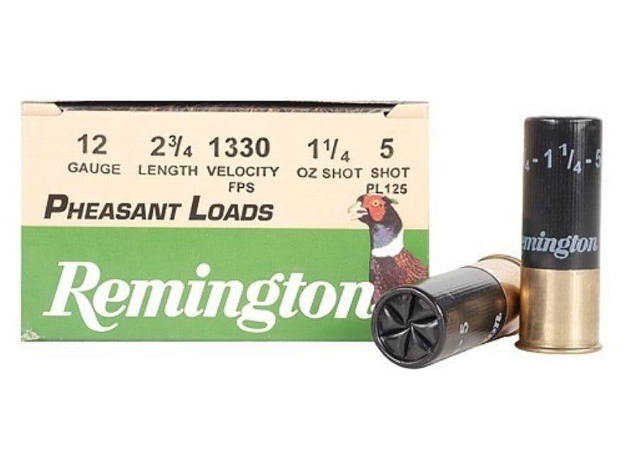 "Remington Pheasant Ammunition 12 Gauge 2-3/4"" 1-1/4 oz #5 Shot Box of 25"