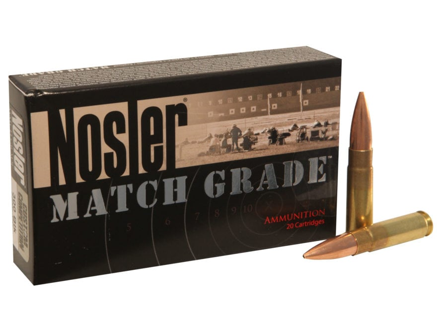 Nosler Match Grade Ammunition 300 AAC Blackout Subsonic 220 Grain Custom Competition Ho...
