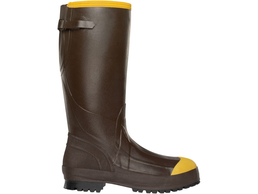 "LaCrosse Alpha Aggressive 16"" Waterproof 3.5mm Steel Toe Work Boots Rubber Brown Men's"
