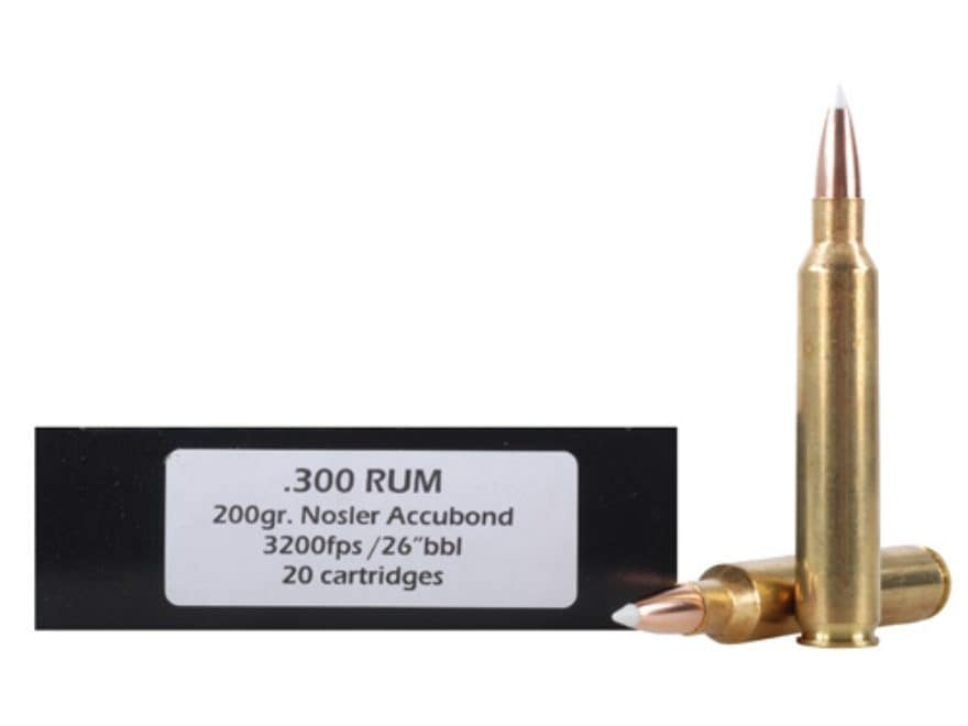 DoubleTap Ammunition 300 Remington Ultra Magnum 200 Grain Nosler AccuBond Spitzer Box o...
