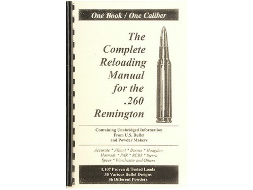 "Loadbooks USA ""260 Remington"" Reloading Manual"