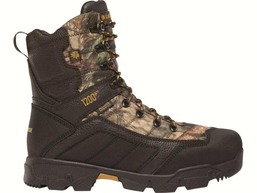 "LaCrosse Cold Snap 8"" Waterproof 1200 Gram Insulated Hunting Boots Leather/Synthetic Men's"