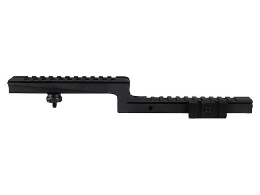 NcStar Weaver-Style AR-15 Carry Handle Mount with Tri-Mount Adjustable Side Tabs Matte