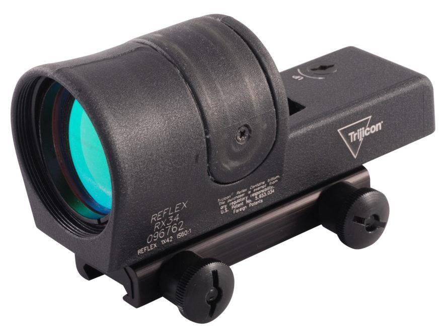 Trijicon RX34A-51 Reflex Sight 1x 42mm 4.5 MOA Dual Illumination Amber Dot with Flat-To...
