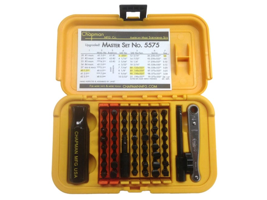 Chapman Model 5575 51 Piece Master Screwdriver Set with Slotted, Phillips, Torx, Metric...