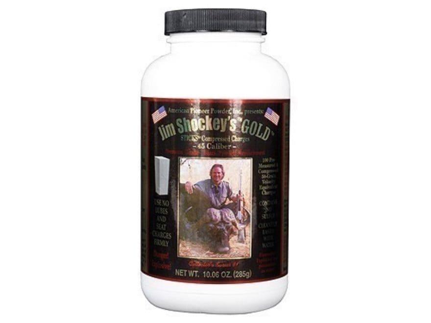 American Pioneer Jim Shockey's Gold Black Powder Substitute 45 Caliber 50 Grain Sticks ...