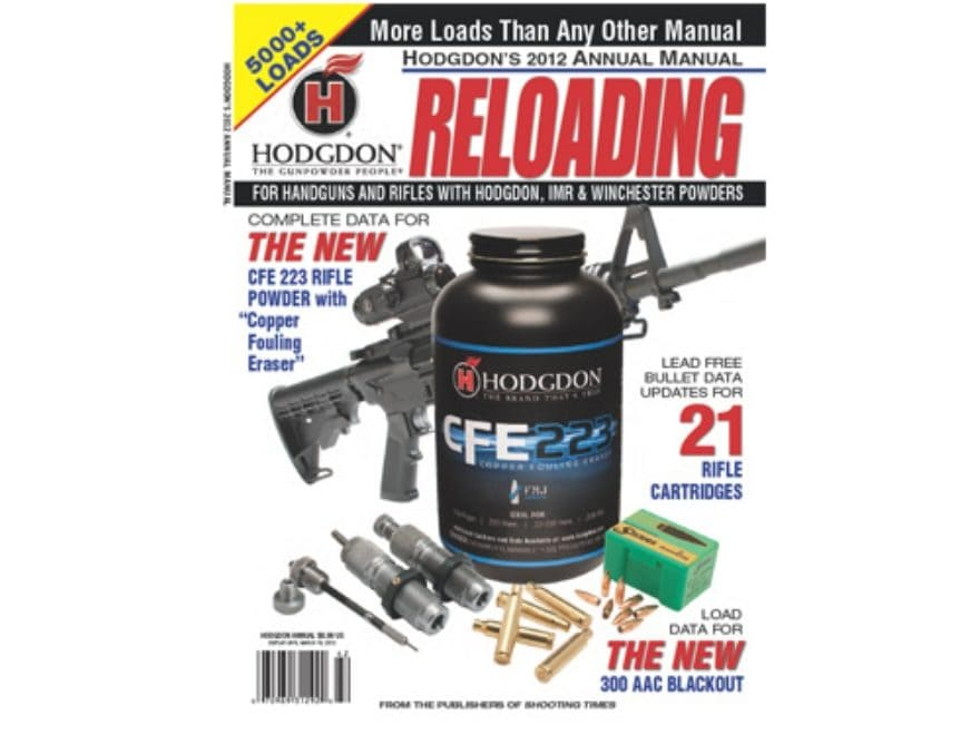 Amazon. Com: hodgdon 2012 basic reloaders manual pages: 50.
