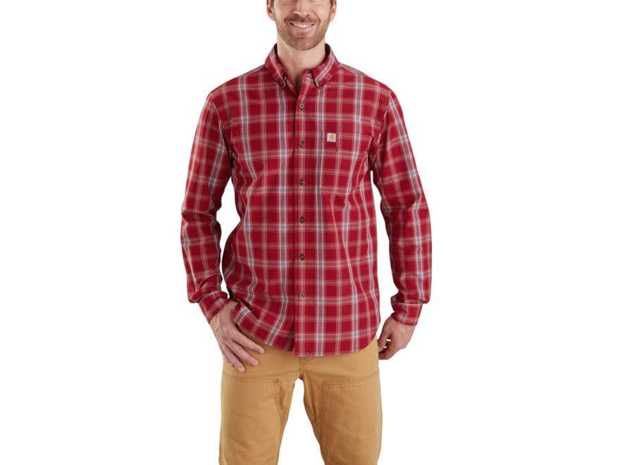 Carhartt Men's Essential Plaid Button-Up Shirt Long Sleeve Cotton