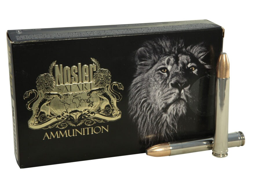 Nosler Safari Ammunition 458 Lott 500 Grain Partition Box of 20