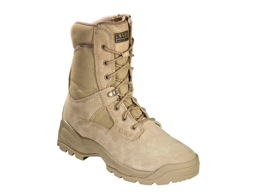 """5.11 ATAC 8"""" Uninsulated Tactical Boots Suede and Nylon Coyote Men's"""