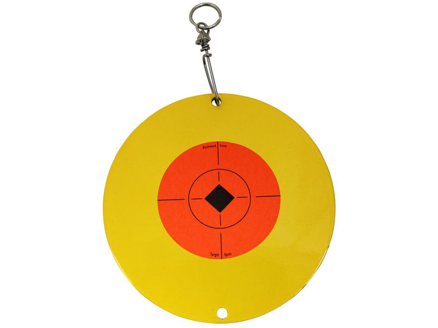 Birchwood Casey Shoot-N-Spin AR500 Centerfire Rifle and Handgun Target Steel Yellow