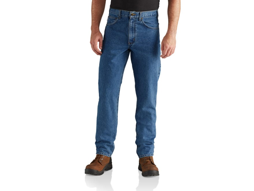 Carhartt Men's Straight Traditional Fit Tapered Leg Jean Pants Cotton