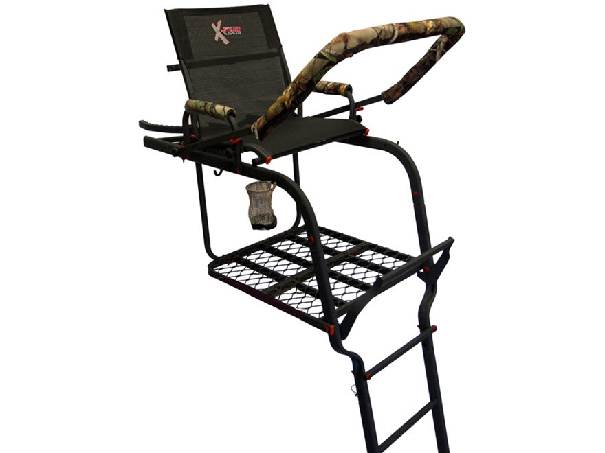 X-Stand The General XT 22' Single Ladder Treestand Steel Black