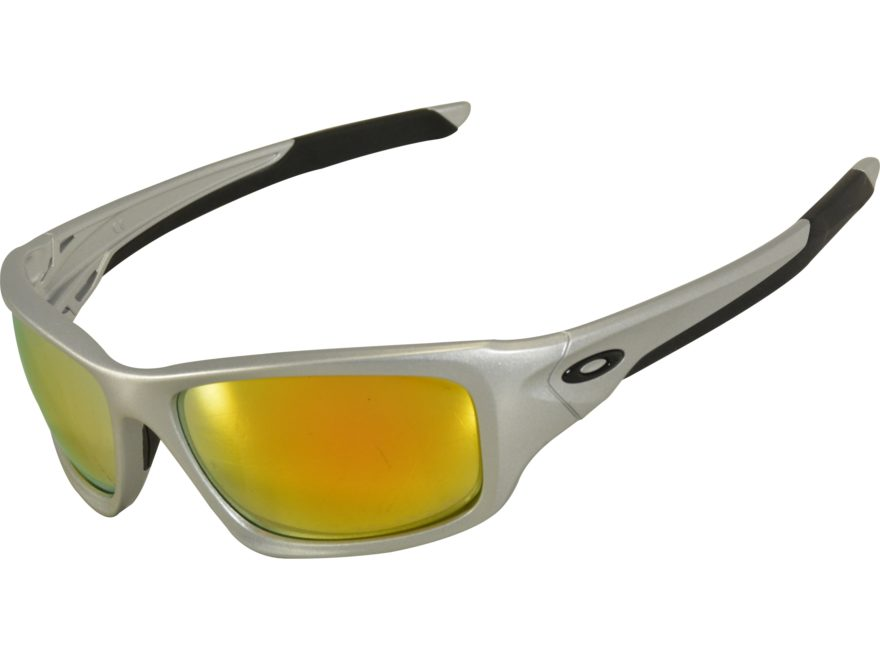 9b96307f81 Oakley Valve Polarized Sunglasses Silver Frame Fire Iridium Lens. Alternate  Image