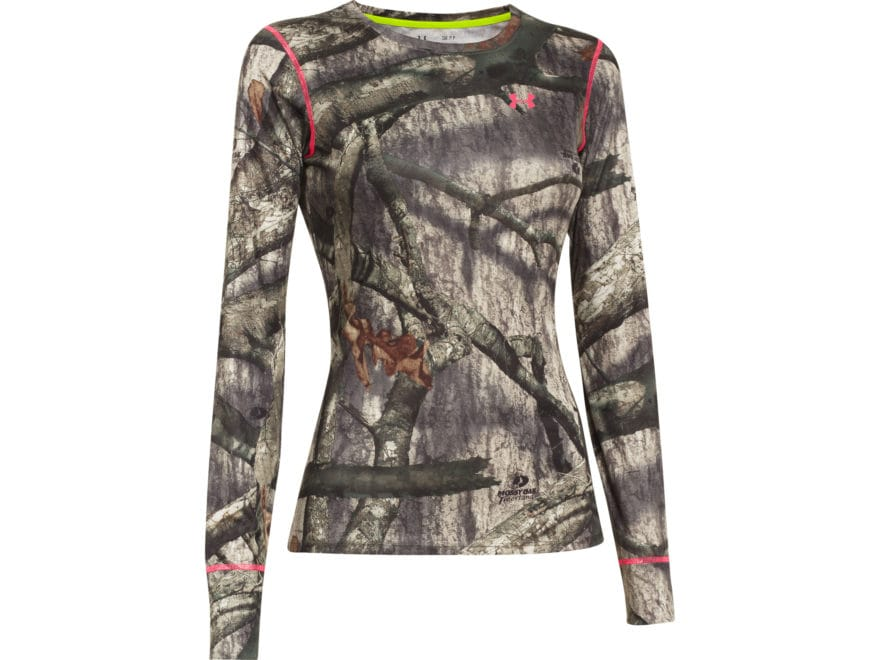2980b1ee Under Armour Women's EVO HeatGear Crew Shirt Long Sleeve Polyester Mossy  Oak Treestand .