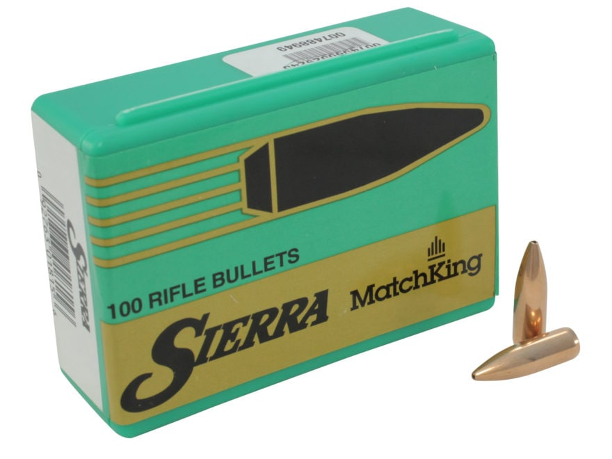 Sierra MatchKing Bullets 6.8mm Remington SPC (277 Diameter) 115 Grain Hollow Point Boat...