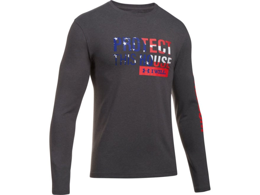 Under Armour Men's UA Freedom Protect This House T-Shirt Long Sleeve Charged Cotton
