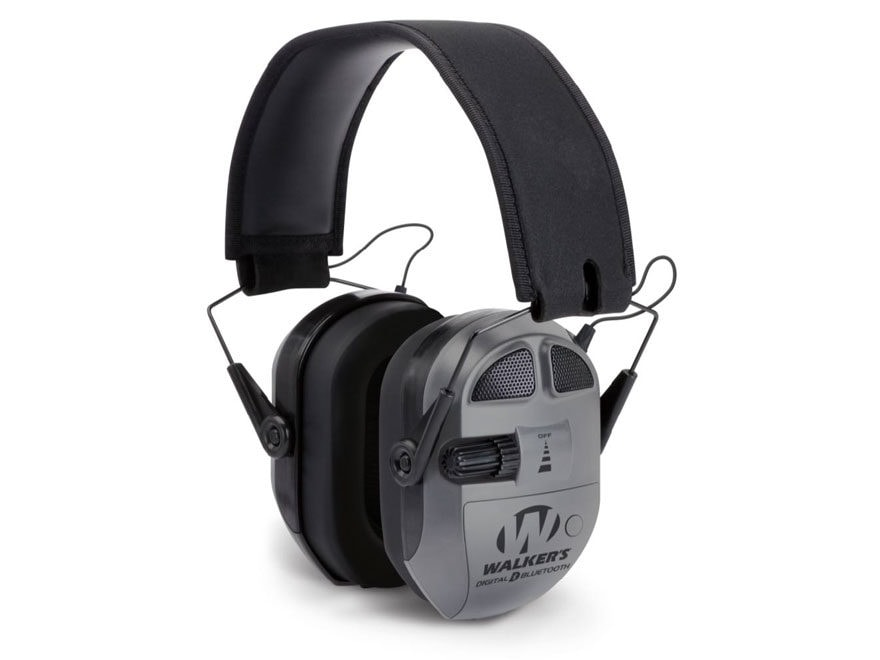 Walker's Ultimate Digital Quad Connect Electronic Earmuffs with Bluetooth (NRR 26dB) Gray