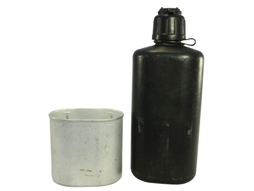 Military Surplus Swiss M84 Canteen with Cup Grade 2