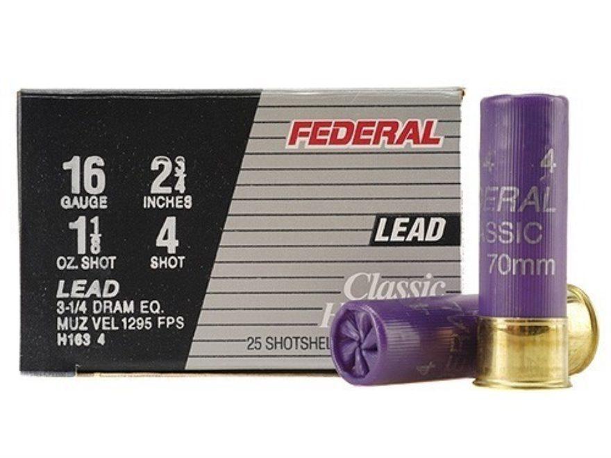 """Federal Game-Shok Hi-Brass Ammunition 16 Gauge 2-3/4"""" 1-1/8 oz"""