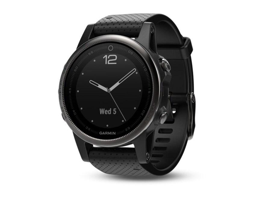 Garmin Fenix 5s GPS Watch with Silicone Band Black