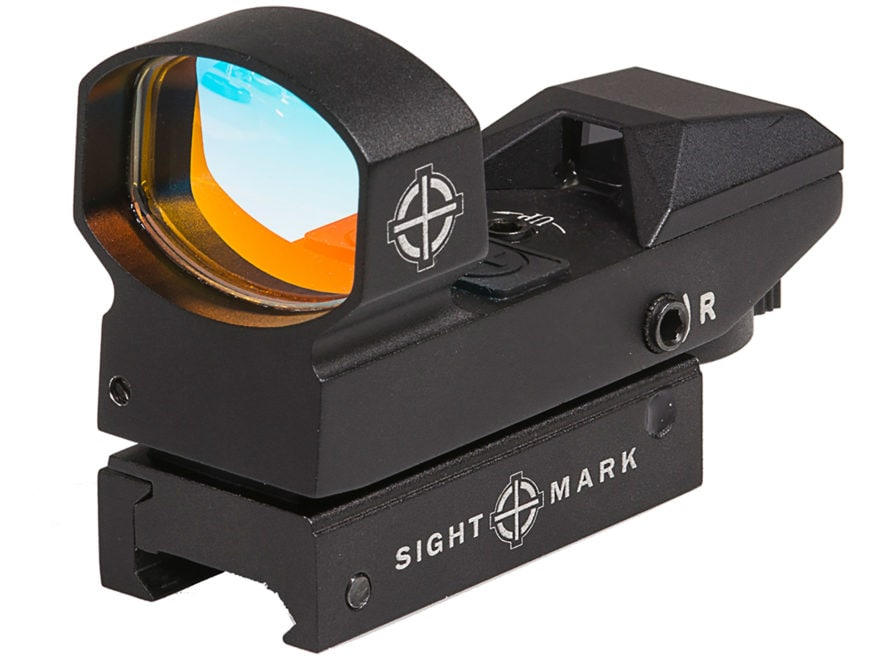 Sightmark Sure Shot Plus Reflex Red Dot Sight 1x Selectable Reticle with Quick-Detachab...