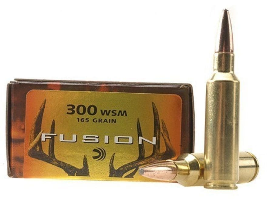 Federal Fusion Ammunition 300 Winchester Short Magnum (WSM) 165 Grain Spitzer Boat Tail...