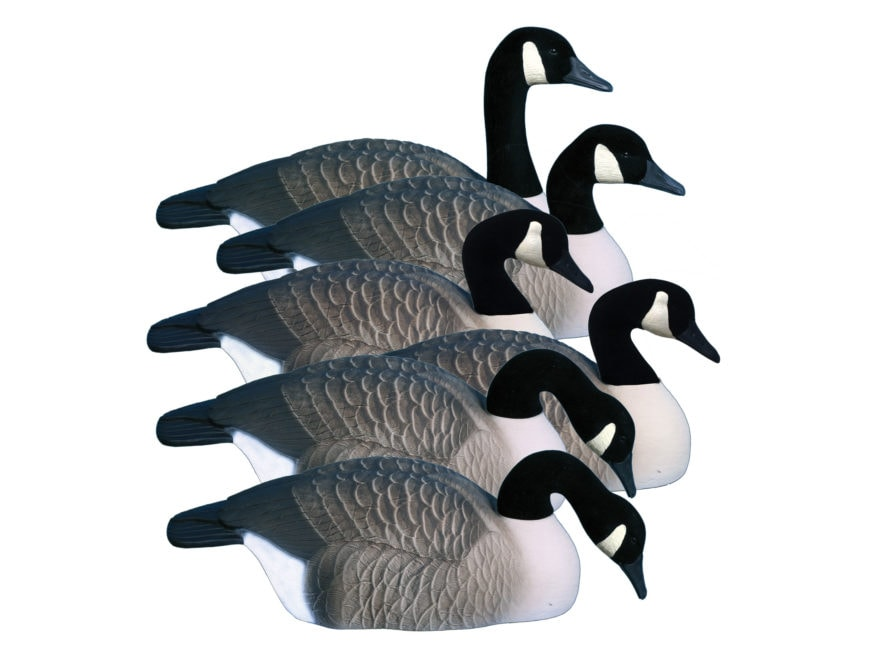 Higdon Magnum Half Shell Canada Goose Decoy Polymer Pack of 6