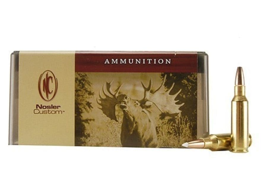 Nosler Custom Ammunition 300 Remington Short Action Ultra Magnum 150 Grain AccuBond Spi...