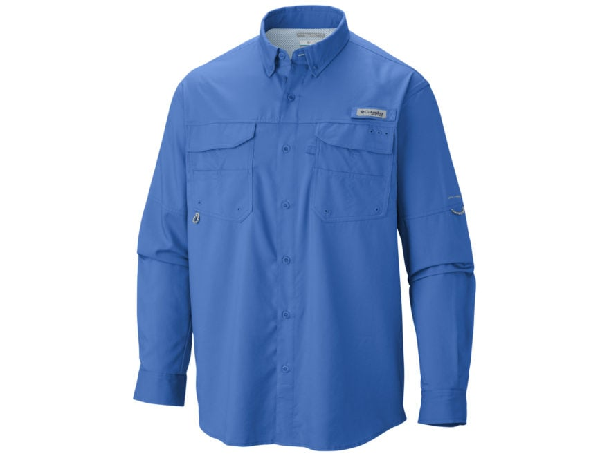 Columbia Men's PFG Blood and Guts III Button-Up Shirt Long Sleeve Polyester